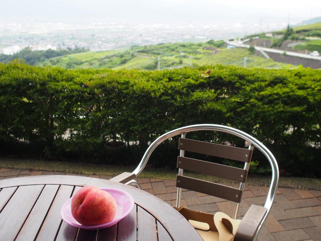 萩原フルーツ農園の絶景テラス