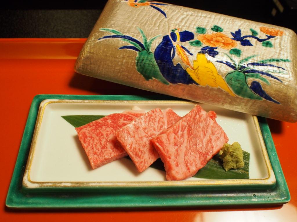 夕食 飛騨牛鉄板焼き