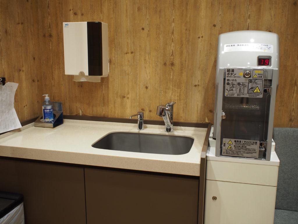調乳用浄水給湯器、水道