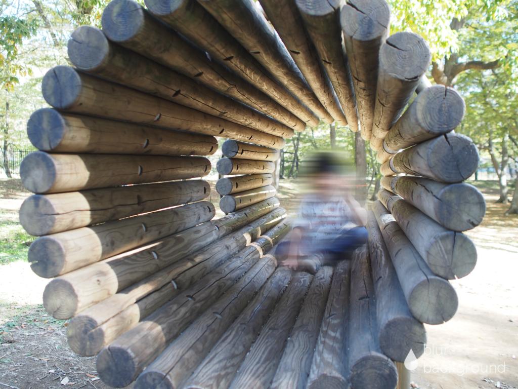 丸太風トンネル